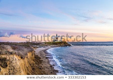 Nokta ışık deniz feneri uzun ada New York Stok fotoğraf © meinzahn