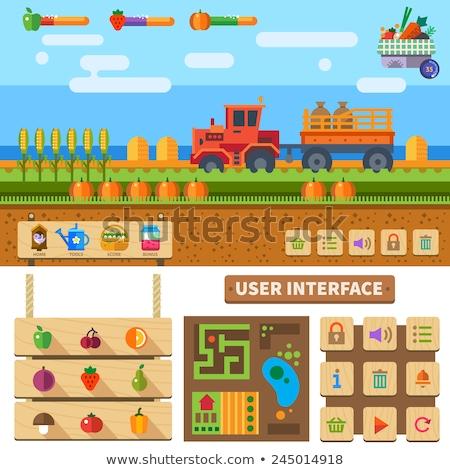 фермы дизайна 10 продовольствие знак зеленый Сток-фото © sdCrea