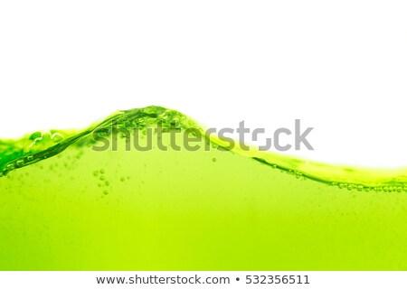 Green liquid wave Stock photo © homydesign