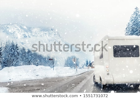 Caravan lifestyle road and landscape Stock photo © carloscastilla