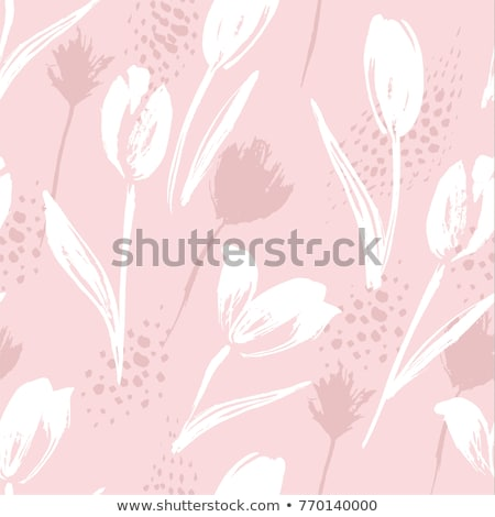 Doodle style seamless pattern with flowers and other nature elem Stock photo © balasoiu