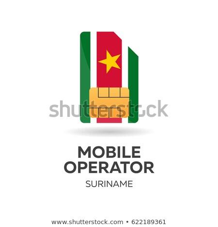 флаг · Суринам · карта · Мир · зеленый · Африка - Сток-фото © leo_edition