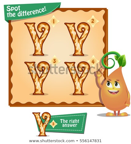 Spot the difference letters y Stock photo © Olena