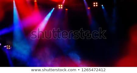 blue stage light beam background Stock photo © magann