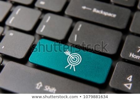 ウェブ マーケティング 青 キーボード ボタン 指 ストックフォト © tashatuvango