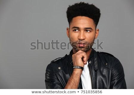 élégant africaine Guy permanent mains Photo stock © deandrobot
