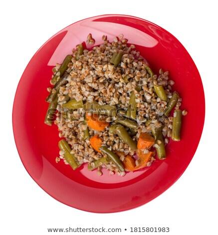 Puchar czerwony fasoli zbóż odizolowany zdrowa żywność Zdjęcia stock © MaryValery