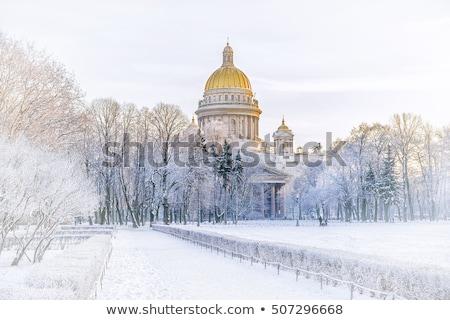 tél · Oroszország · napos · hideg · nap · város - stock fotó © Estea