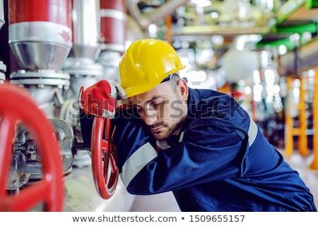 工場労働者 · ブレーク · 煙 · 建設 - ストックフォト © is2