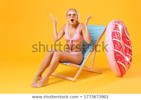 Woman on Deckchair Stock photo © IS2