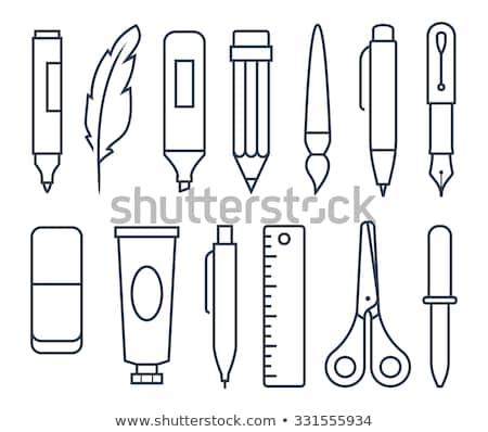 nib thin line vector icon stock photo © smoki