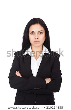 Vrouw baas vrouwelijke bank zakenvrouw pak Stockfoto © popaukropa