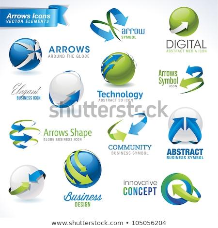vector arrow with earth stock photo © get4net