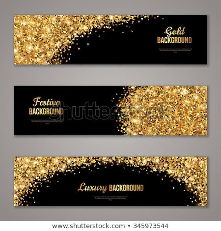 Natal horizontal banners conjunto ouro alegre Foto stock © Voysla