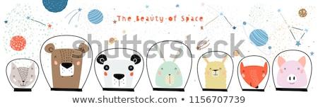 Cartoon Smiling Spaceman Bunny Stock photo © cthoman