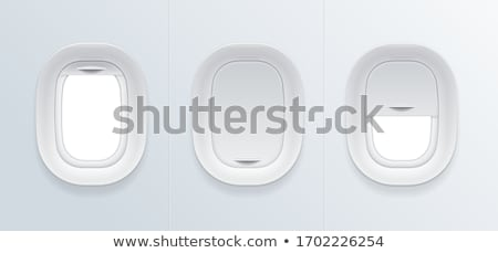 Clear Airplane Window Porthole Stock photo © solarseven