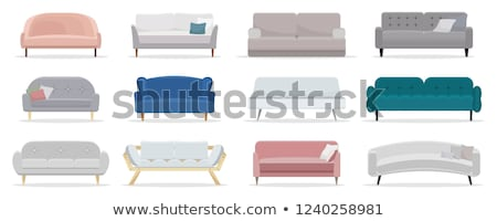 Set of modern colorful soft sofas with upholstery Stock photo © MarySan
