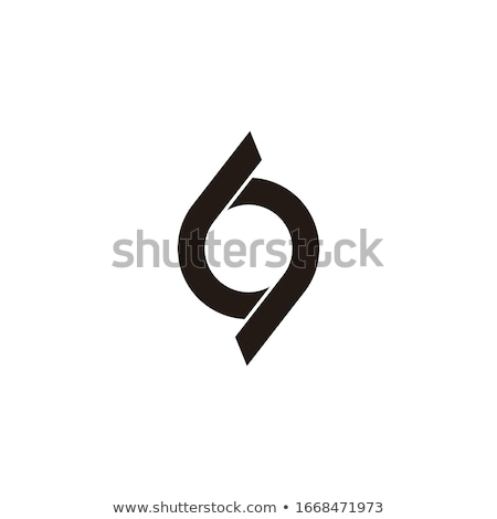Szám spirál vektor logo felirat embléma Stock fotó © blaskorizov