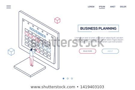 tarea · gestión · moderna · diseno · estilo · ilustración - foto stock © decorwithme