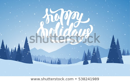 inverno · projeto · rena · floresta · natal · cartão - foto stock © terriana