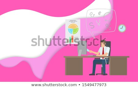 on line support man works laptop analyzing charts stock photo © robuart