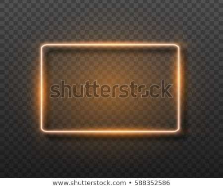 glowing neon signboard closed vector illustration Stock photo © konturvid