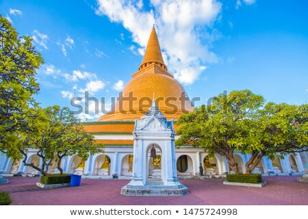 Templom Thaiföld kő istentisztelet Ázsia vallás Stock fotó © boggy