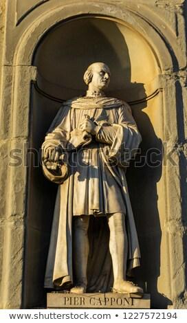 mimari · detay · Floransa · zengin · sütunlar · duvar - stok fotoğraf © boggy