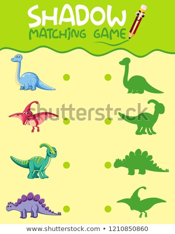 согласование динозавр тень фон искусства рисунок Сток-фото © colematt