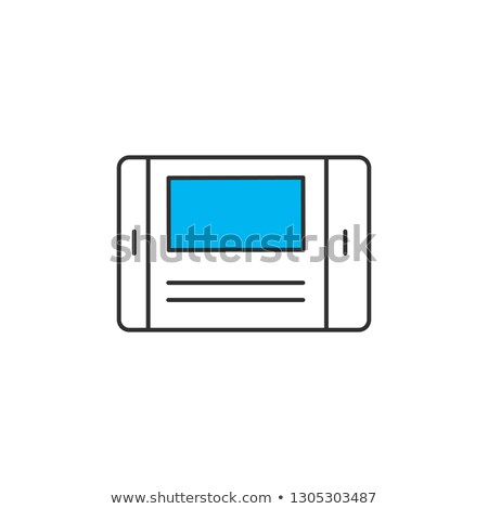 Vector illustration of door bell monitor or portable gadget. Vector illustration Isolated on white b Stock photo © kyryloff