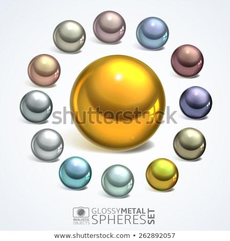 Stock photo: metal ball bearing vector illustration