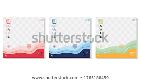 colorful stories templates collection transparent background stock photo © adamson