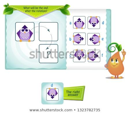 Coruja forma rotação jogo crianças Foto stock © Olena