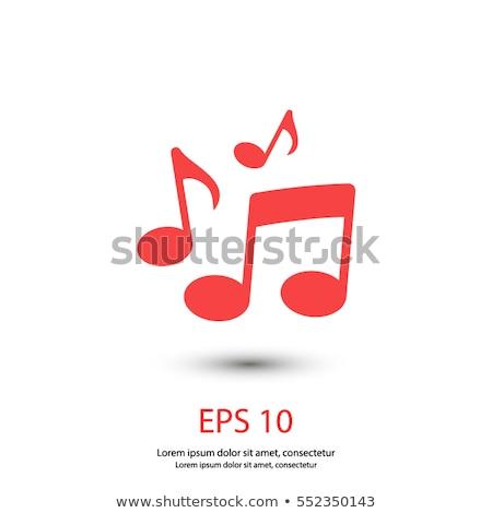 Musica segno simbolo vettore arte Foto d'archivio © vector1st