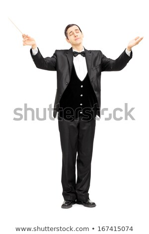 Young man conducting an orchestra Stock photo © ichiosea