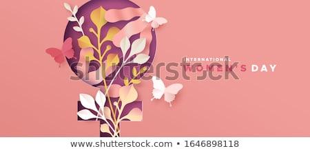 Feliz internacional mujeres día ilustración Foto stock © vectomart