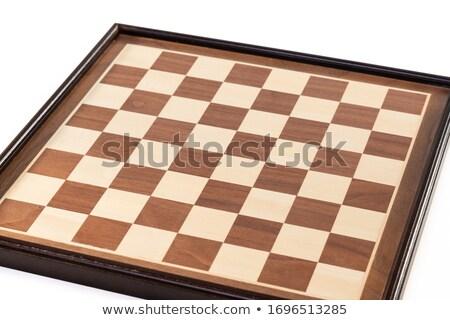 Chess battle on plain board Stok fotoğraf © jossdiim