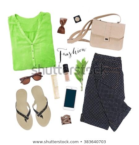 зеленый одежду очки набор девушки Сток-фото © toyotoyo