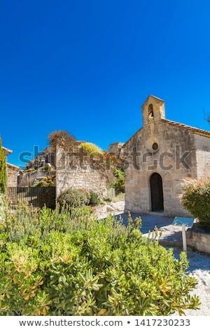 Chapelle Saint Blaise, an old church in Les Baux de Provence, Fr Stock photo © boggy