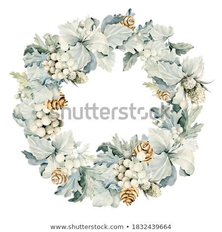 Lush luxury wreath of greenery with peonies Stock photo © Natalia_1947
