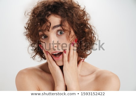 Beauty portrait of a seductive young topless woman Stock photo © deandrobot