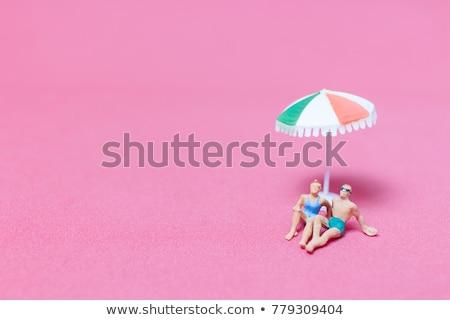 Minyatür insanlar mayo plaj farklı Stok fotoğraf © nito