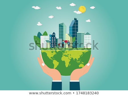 Hands Holding Paper With Cutout Bicycle Stock photo © AndreyPopov
