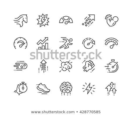 brain performance line icon set stock photo © bspsupanut