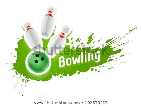 Bowling ball pływające eps 10 gradienty Zdjęcia stock © tilo