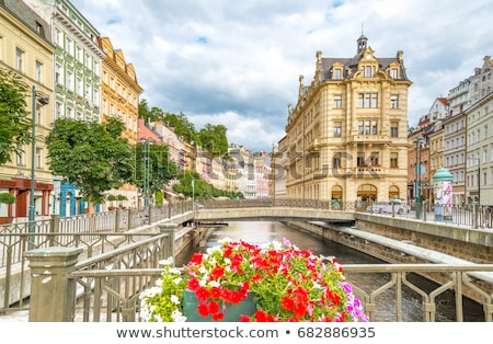 Tsjechische Republiek stad centrum heilig kolom Stockfoto © borisb17