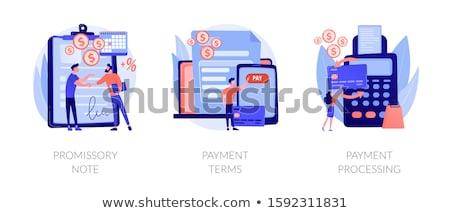 Jegyzet ígéret illetmény pénz kölcsönvesz irat Stock fotó © RAStudio