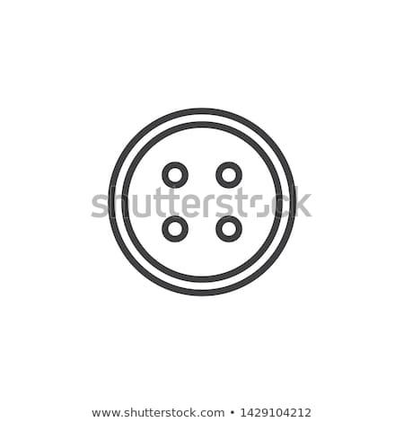 Naaien knoppen icon vector schets illustratie Stockfoto © pikepicture