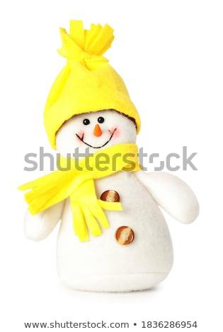 Peu décoratif bonhomme de neige jouet table Photo stock © Anna_Om