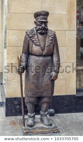 Posąg woźny Gruzja starówka ulicy sztuki Zdjęcia stock © borisb17
